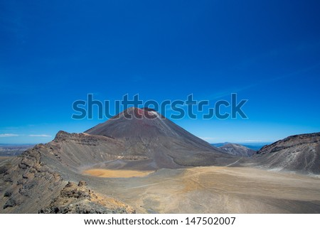 Mount Ngauruhoe on the North Island of New zealand - stock photo