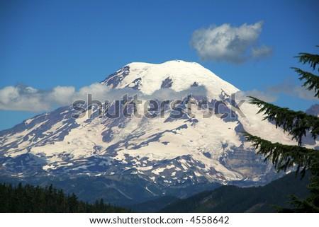 Mount Rainier National Park - stock photo