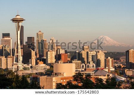 Mount Rainier - State of Washington - stock photo