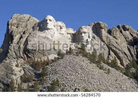 Mount Rushmore in South Dakota - stock photo