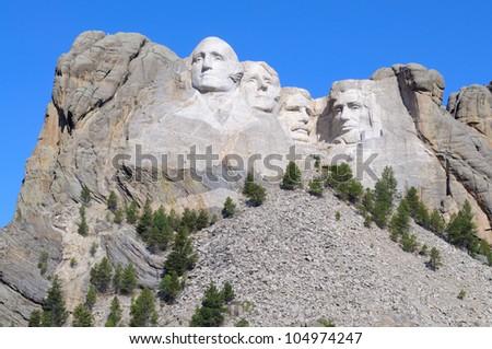 Mount Rushmore National Memorial - stock photo