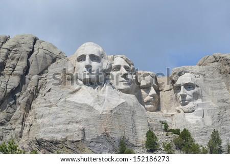 Mount Rushmore National Monument in South Dakota, United States - stock photo