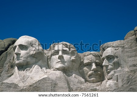 Mount Rushmore, South Dakota - room for type - stock photo
