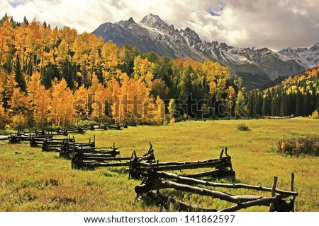 Mount Sneffels Range, Colorado, USA - stock photo