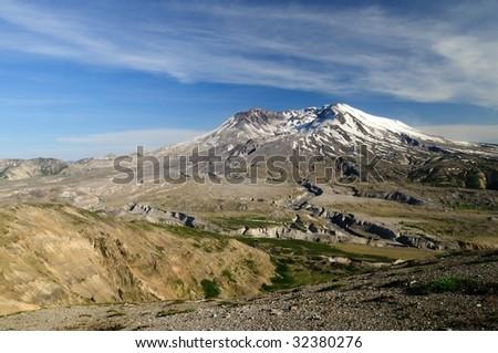 Mount St. Helens volcanic landscape in Washington, USA - stock photo