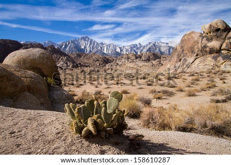 mount whitney usa - stock photo