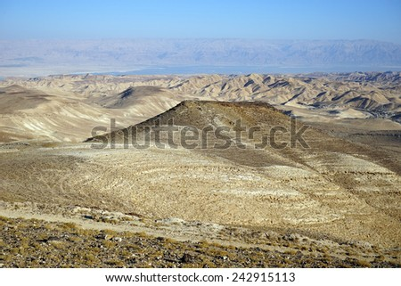 Mountain area near rad in Israel                                - stock photo