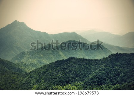 Mountain china - stock photo