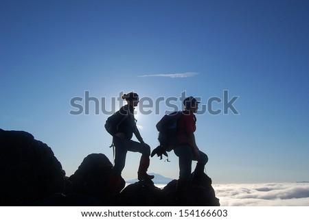 Mountain Climbers - stock photo