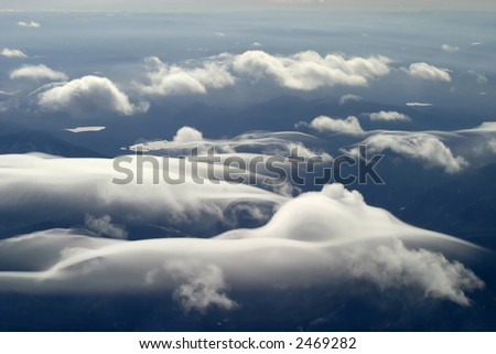 Mountain Clouds - stock photo