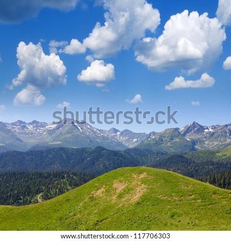 mountain country - stock photo