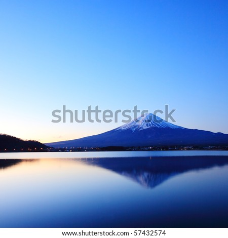 Mountain Fuji at Dawn - stock photo