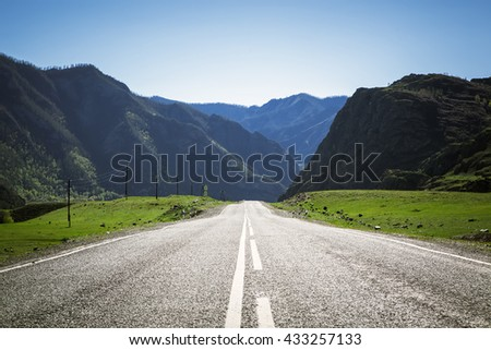 mountain highway - stock photo