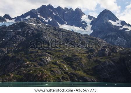 Mountain in alaska - stock photo