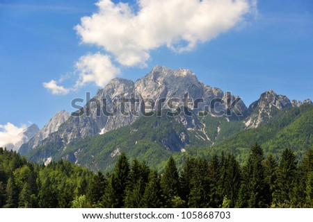 Mountain in Julian alps - stock photo