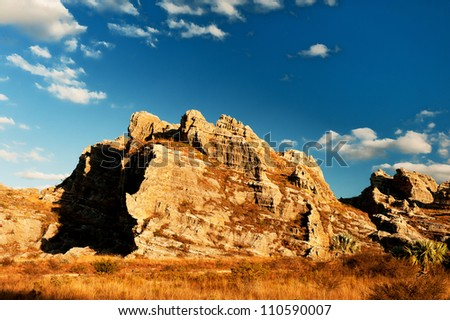Mountain in Madagascar - stock photo