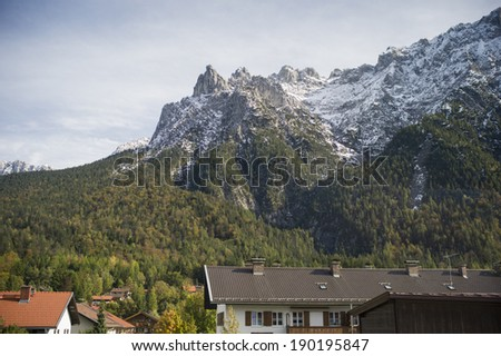 Mountain in Mittenwald, Germany - stock photo