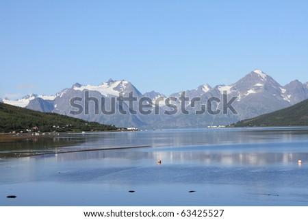 Mountain in Norway - stock photo