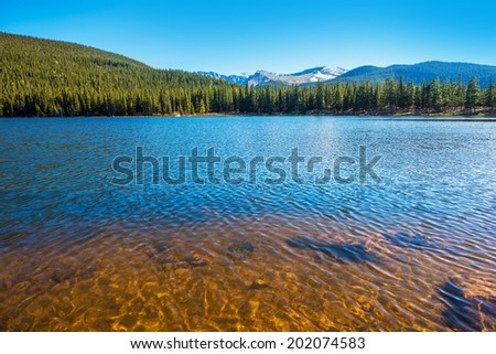 Mountain Lake in Colorado. Echo Lake near Mount Evans. Colorado, United States - stock photo