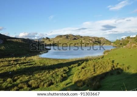 Mountain lake in West Cork, Ireland - stock photo