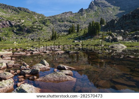 mountain lake of Marble - stock photo