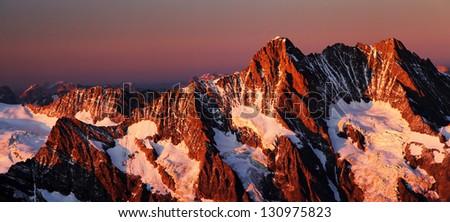 Mountain landscape, Berner Oberland, Switzerland - UNESCO Heritage - stock photo