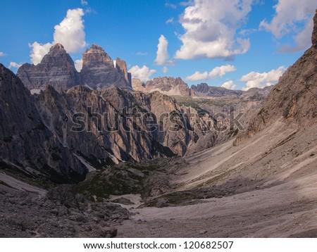 mountain landscape - Dolomites, Italy - stock photo