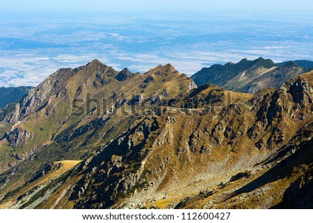 Mountain landscape in a sunny summer day - stock photo