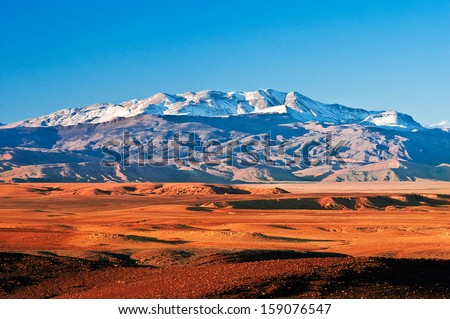 Mountain landscape in the north of Africa, Morocco - stock photo