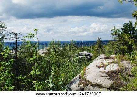 Mountain landscape. Russia. Ural Mountains - stock photo