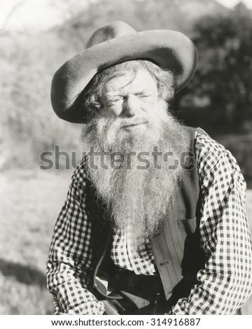 Mountain man - stock photo