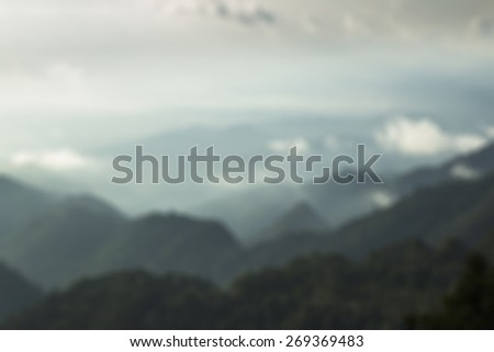 Mountain morning blur for background - stock photo