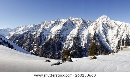 Mountain panorama image - stock photo