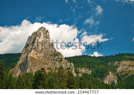 Mountain peak - stock photo