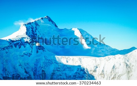 Mountain peak. Everest. National Park, Nepal. - stock photo