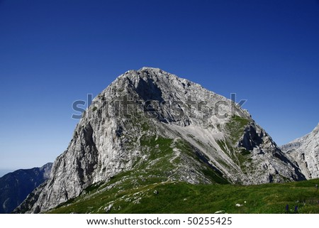 Mountain peak, summit - stock photo
