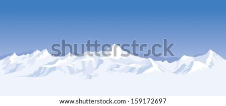 mountain range background - stock photo