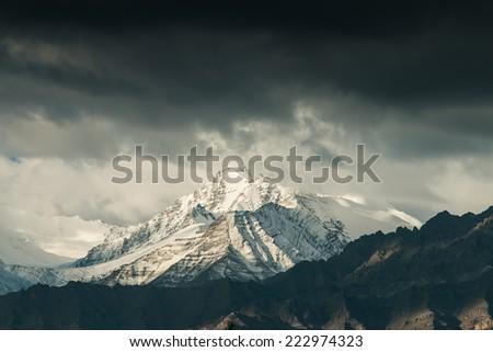 Mountain range, Leh, Ladakh, India - stock photo