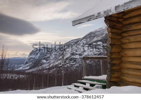 mountain refuge - stock photo