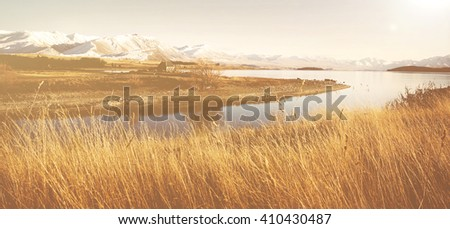 Mountain River Suburb Rural Remote Solitude Concept - stock photo
