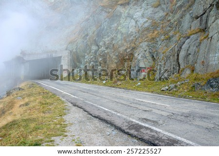 Mountain Road in the Transylvanian Alps, Romania, Europe - stock photo