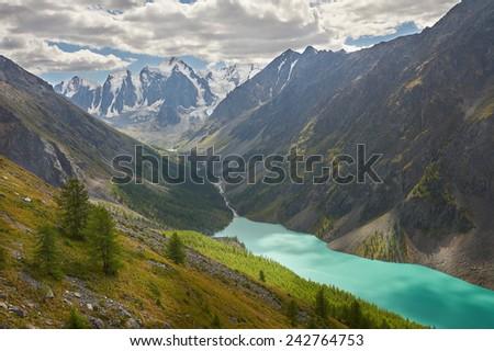 Mountain  Russia, Siberia, Altai mountains, Chuya ridge. - stock photo