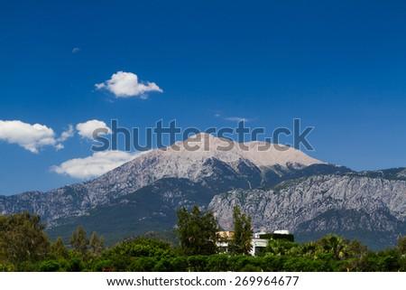 mountain scenery in nature park near kiris, antalya, turkey - stock photo