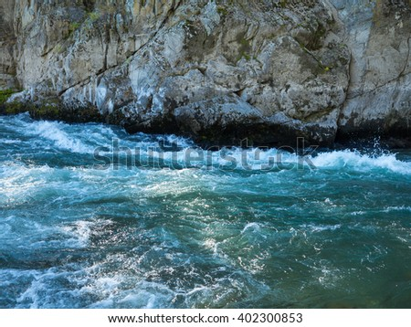 Mountain source of clean water - stock photo