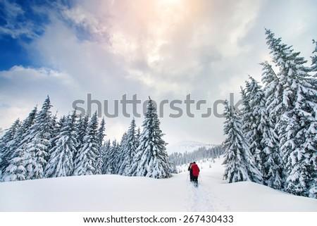 Mountain sport turist - stock photo