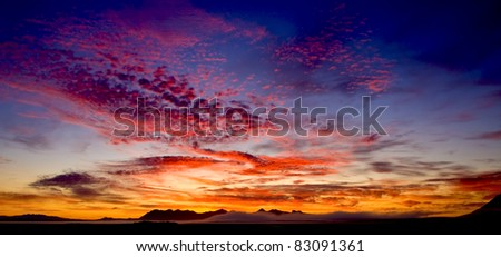 Mountain sunrise - stock photo
