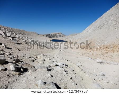 Mountain trail - stock photo