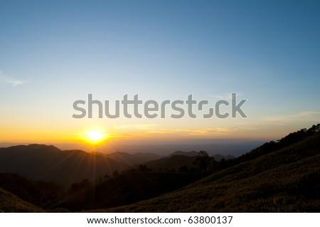mountain valley - stock photo