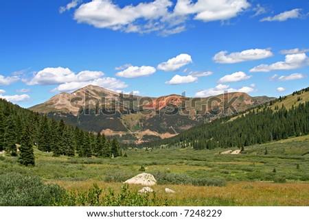 Mountain View in Colorado - stock photo