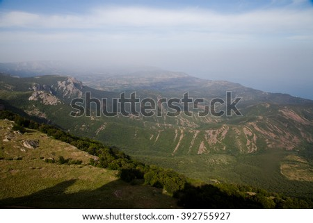 mountain view in summer - stock photo